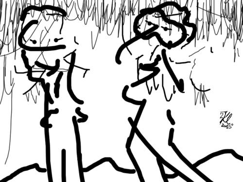 klausens-kunstwerk-zeichnung-selfie-im-schnee-24-2-2015-mit-logo