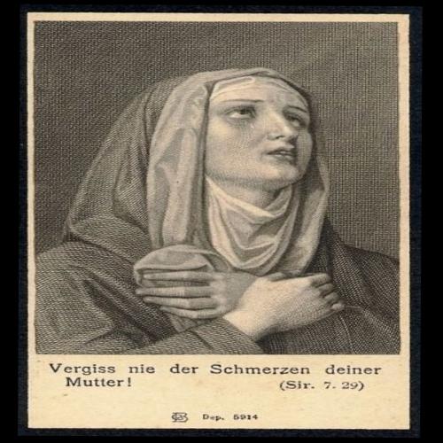 klausens 10-5-2017 AKTION verzerrtes bild des schmerzes vom schmerz verzerrt bild aus einem totenzettel von circa 1849